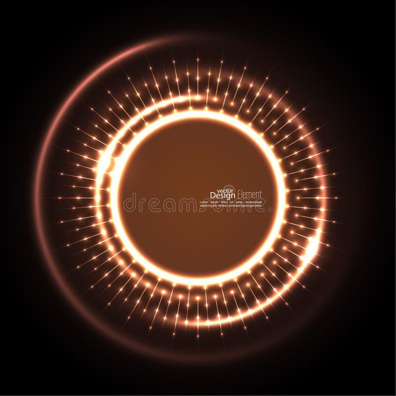 Abstrakter techno Hintergrund stock abbildung