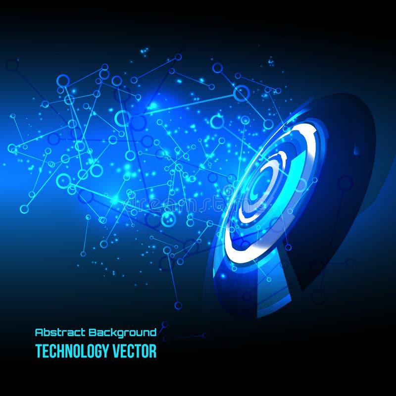Abstrakter techno Hintergrund für futuristisches High-Teches Design - Vektor stock abbildung