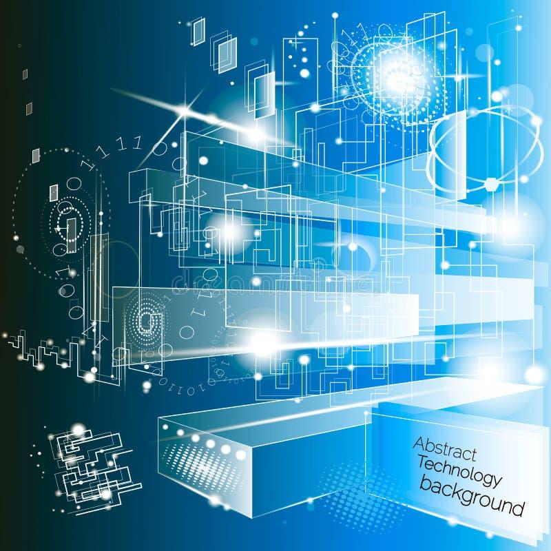 Abstrakter Technologie-Hintergrund lizenzfreie abbildung