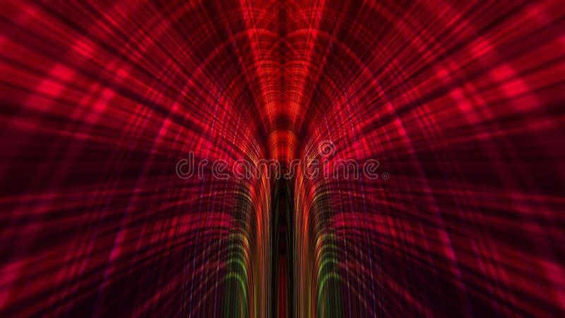 Abstrakter Technologie-Hintergrund, Computer-Animation, Cyberspace-Kabel stockfoto