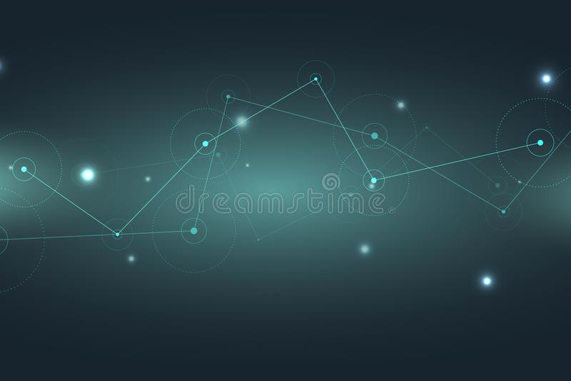 Abstrakter Technologie-Hintergrund Technologie 3d übertragen Vektor stock abbildung