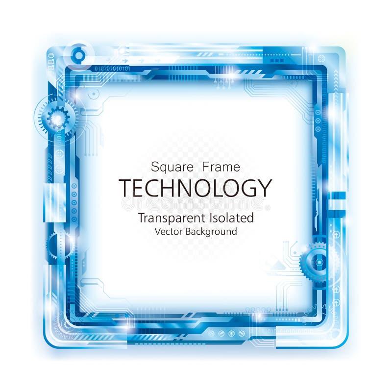 Abstrakter Technologie-Rahmen-Hintergrund stockfotos