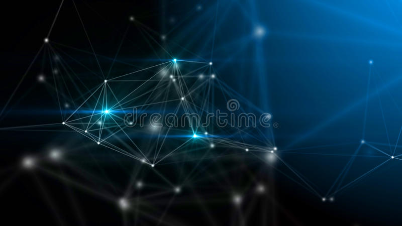 Abstrakter Technologie- und Wissenschaftshintergrund stock abbildung