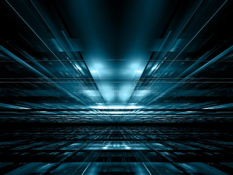 Abstrakter Technologieart-Perspektivenhintergrund - digital erzeugtes Bild lizenzfreie abbildung