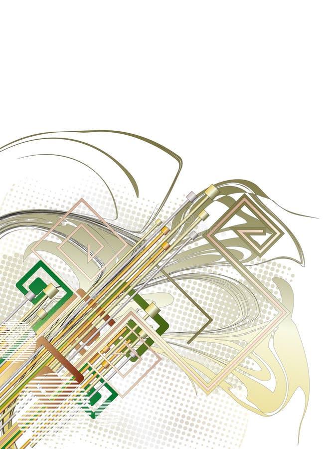 Abstrakter Technologiehintergrund vektor abbildung