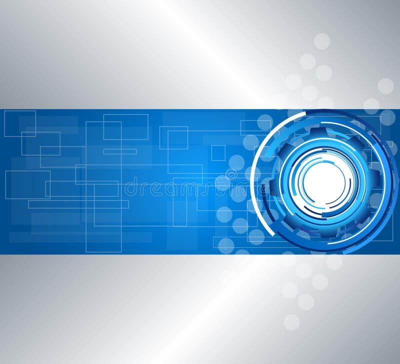 Abstrakter Technologiehintergrund stock abbildung