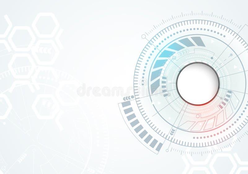 Abstrakter Technologiehintergrund Hintergrund mit vielen kleinen Technologieelementen vektor abbildung