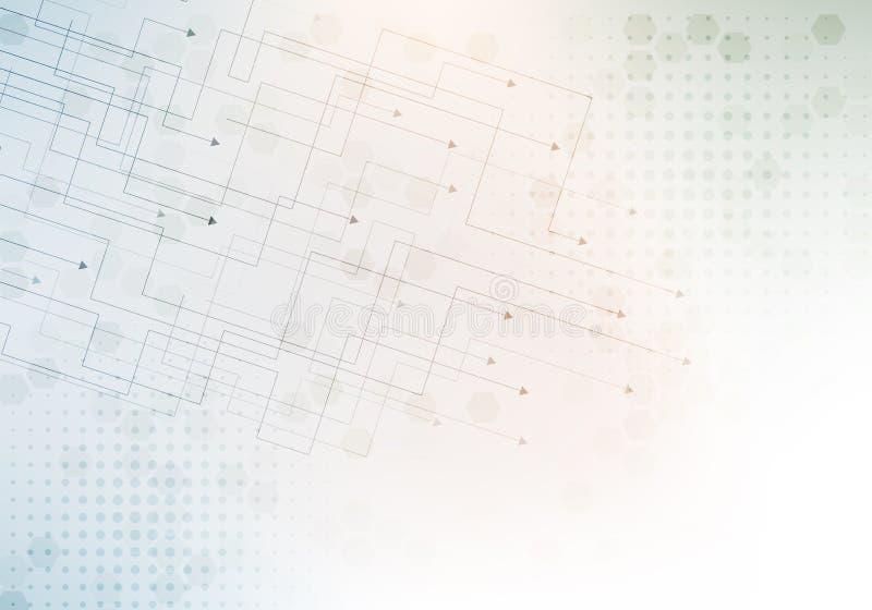 Abstrakter Technologiehintergrund mit kleinen Pfeilen vektor abbildung
