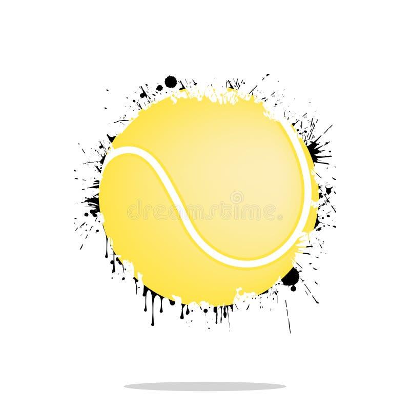 Abstrakter Tennisball des Hintergrundes von den Flecken vektor abbildung