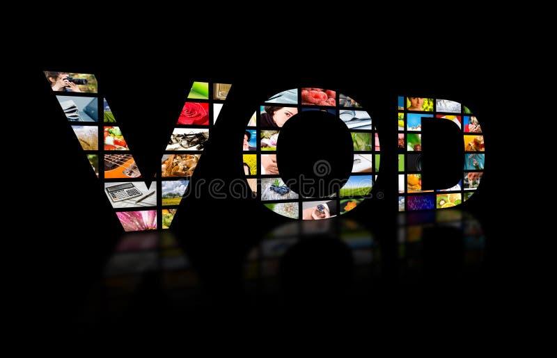 Abstrakter Text des Videos auf Anfrage, Fernsehkonzept stockfoto