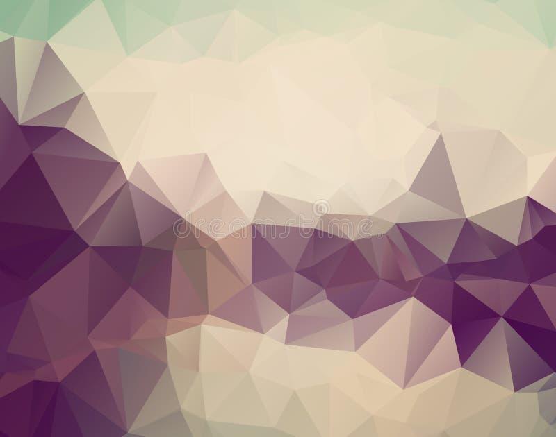 Abstrakter triangulierter blasser farbloser Hintergrund des Vektors Horizontales dynamisches graues Muster Geometrische Beschaffe stock abbildung