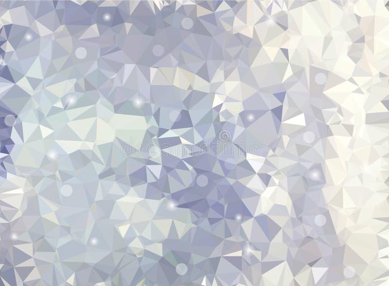 Abstrakter triangulierter Hintergrund des Vektors lizenzfreie abbildung