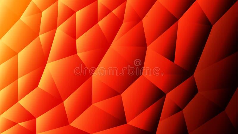 Abstrakter triangulierter Hintergrund des Vektors   Orange Hintergrund   Roter Hintergrund   Illustrator-Design stock abbildung