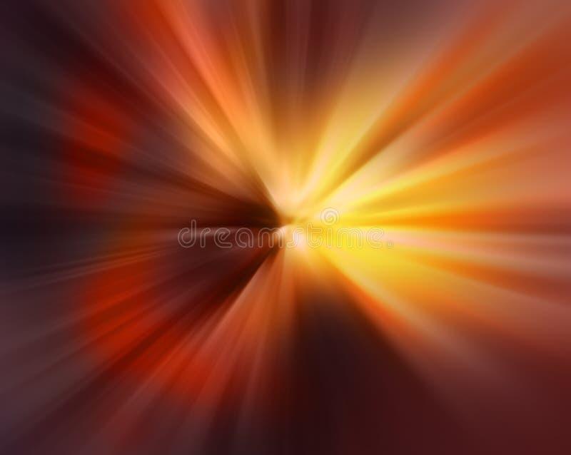 Abstrakter undeutlicher Hintergrund in den orange und roten Tönen vektor abbildung