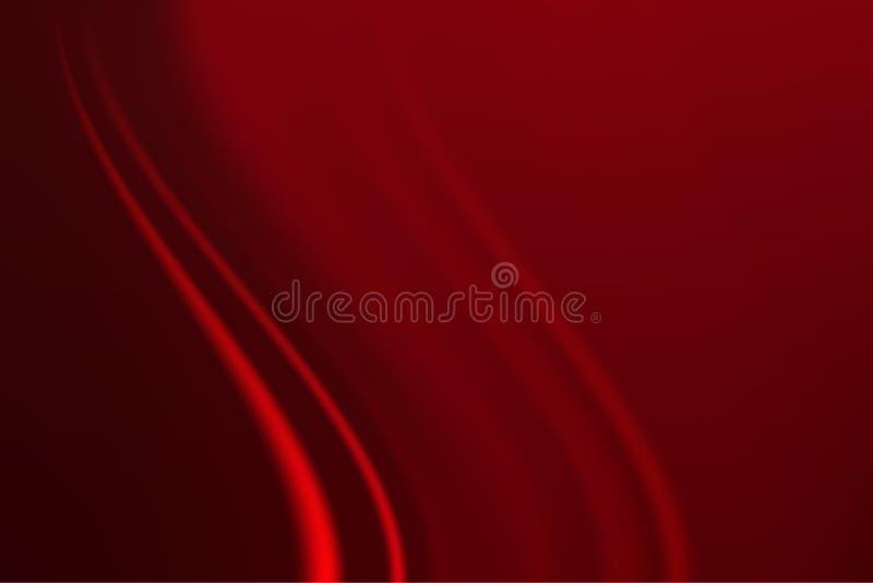 Abstrakter undeutlicher Hintergrund in den roten Tönen gemacht von den weichen Wellen der Farbe stock abbildung