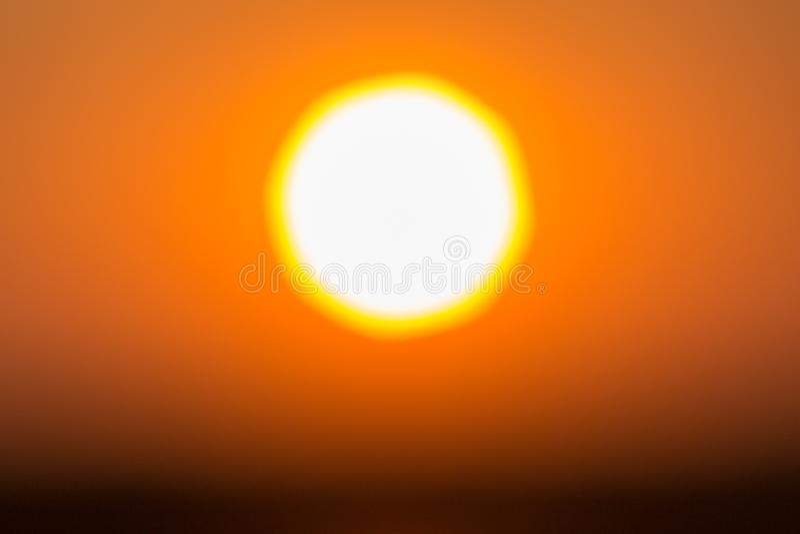 Abstrakter undeutlicher Schuss des Landschaftsfotos des Sonnenuntergangs lizenzfreie stockfotografie