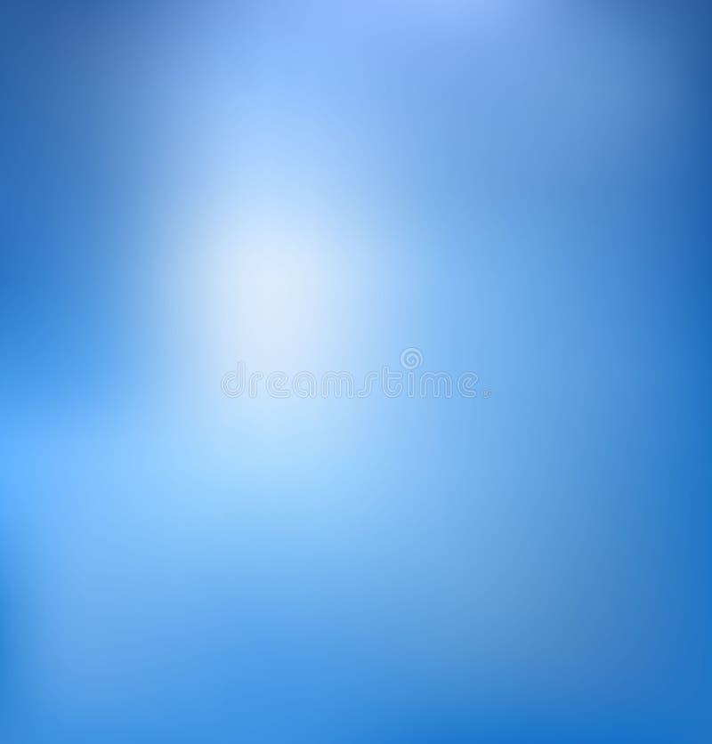 Abstrakter Unschärfeblauhintergrund stock abbildung