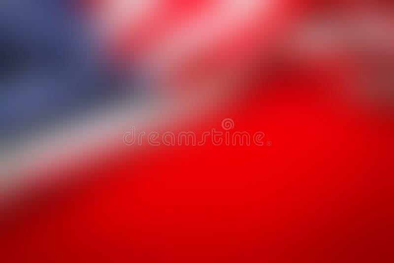 Abstrakter Unschärfehintergrund der amerikanischen Flagge stockfoto