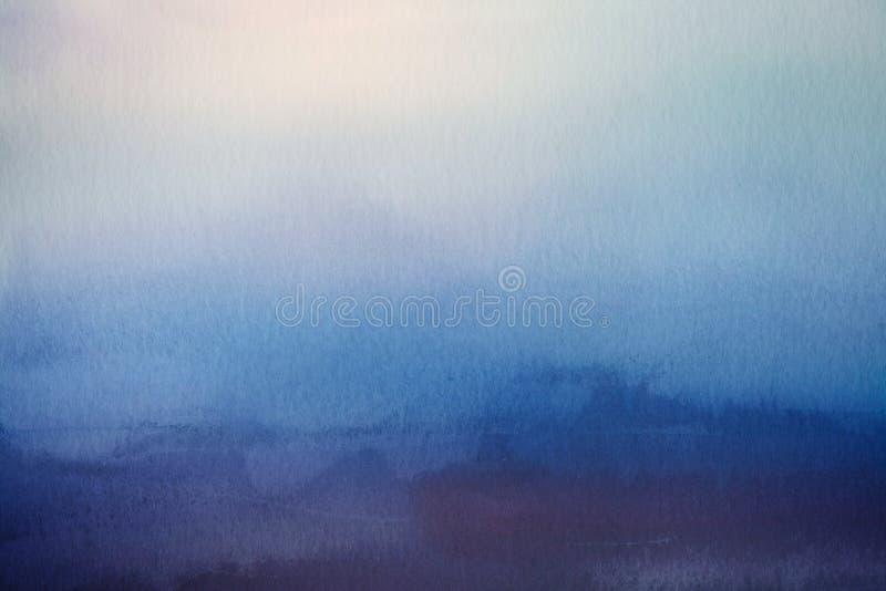 Abstrakter Unschärfenhintergrund Aquarellpapierüberlagerung lizenzfreie stockbilder