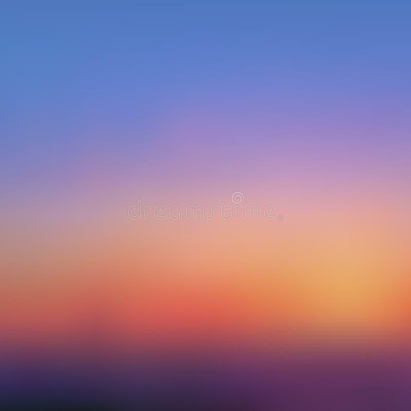 Abstrakter unscharfer Hintergrund, Sonnenuntergang lizenzfreie abbildung