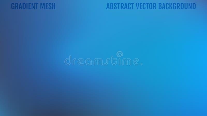 Abstrakter unscharfer Steigungsmaschenhintergrund in den blauen Farben Glatte Fahnenschablone Einfaches editable Weiche farbige V vektor abbildung
