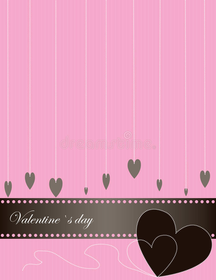 Abstrakter Valentinsgruß-Hintergrund. stock abbildung