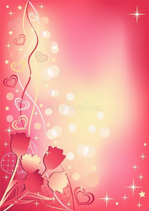 Abstrakter Valentinsgruß `s Hintergrund. lizenzfreie abbildung
