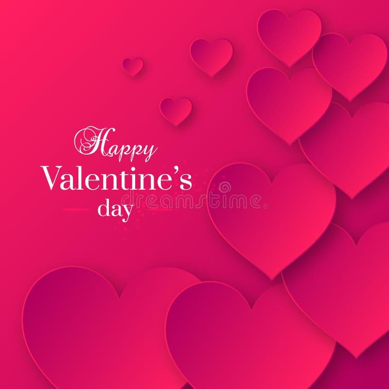 Abstrakter Valentinsgruß ` s Tagesrosa-Farbhintergrund stock abbildung