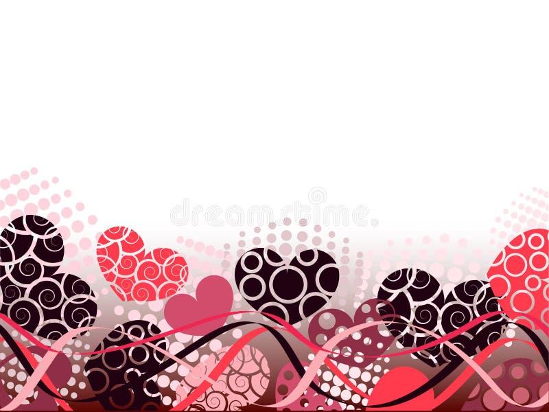 Abstrakter Valentinsgruß-Tageshintergrund mit Inneren. lizenzfreie abbildung