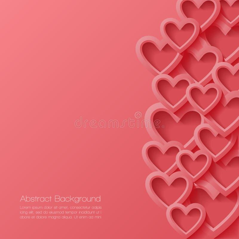 Abstrakter Valentinsgrußhintergrund stock abbildung