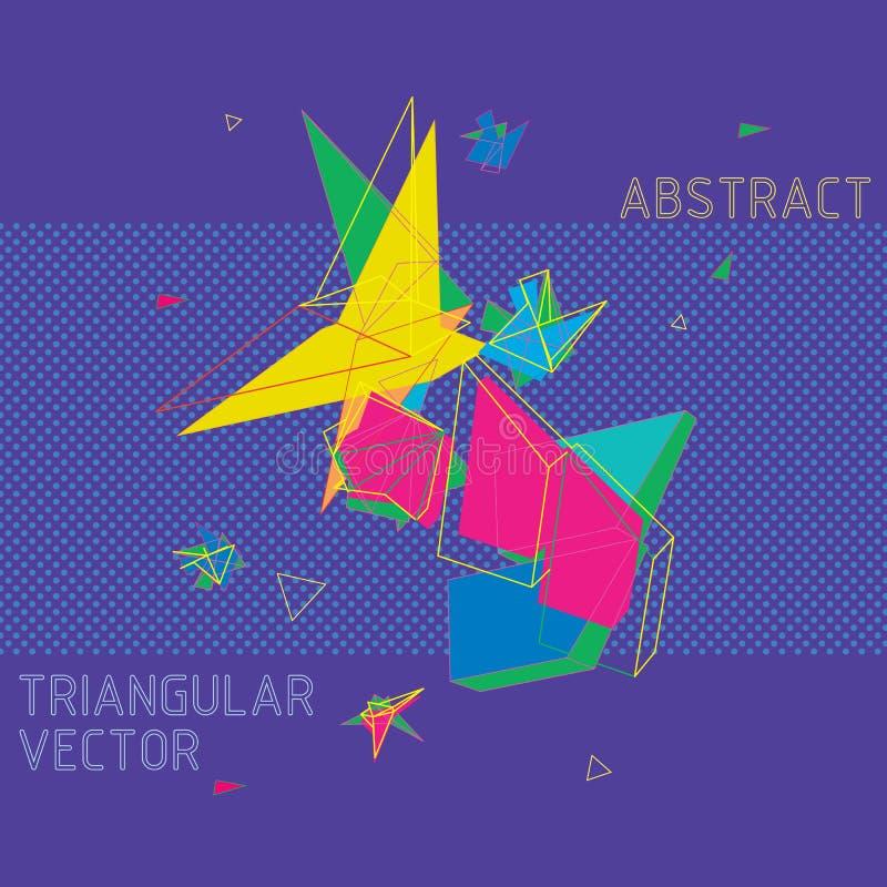 Abstrakter Vektor in der geometrischen polygonalen Art stockfotos