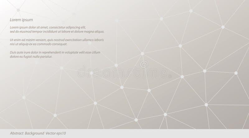 Abstrakter Vektor-Dreieck-Hintergrund Infographic-Illustration für Geschäftsdarstellung und Marketing projektiert Netzmuster lizenzfreie abbildung