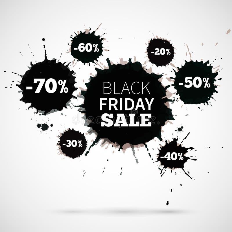 Abstrakter Vektor-Illustrations-Black Friday-Verkauf für lizenzfreie abbildung
