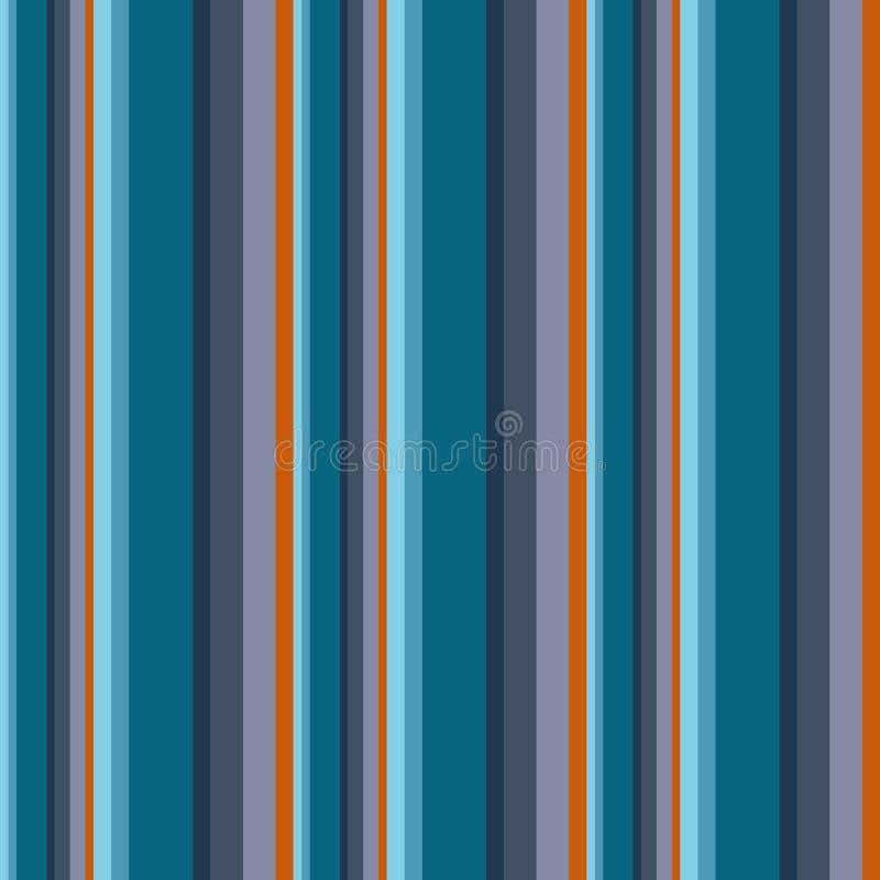 Abstrakter Vektor streifte nahtloses Muster mit farbigen Streifen C lizenzfreie abbildung