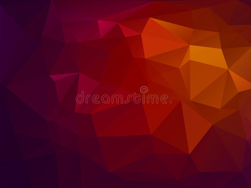 Abstrakter Vektordreieckhintergrund vektor abbildung