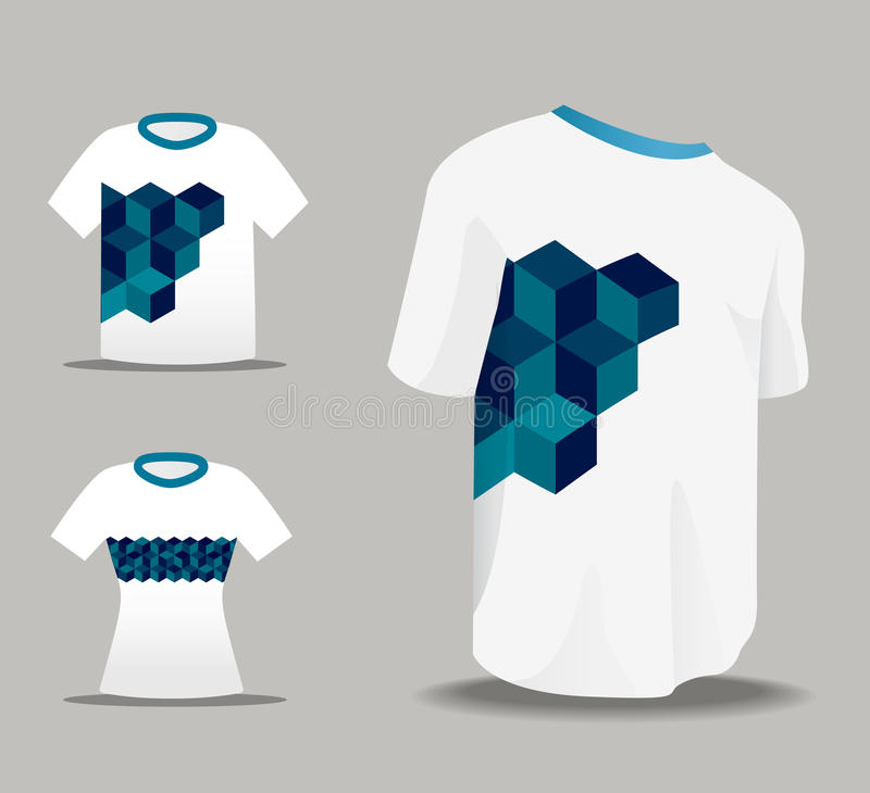 Abstrakter vektoreinheitliche T-Shirt Auslegung stock abbildung