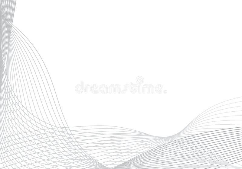 Abstrakter Vektorhintergrund für Design mit vielen Linien stock abbildung