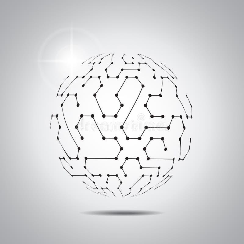 Abstrakter vektorhintergrund Futuristische Technologieart Eleganter Hintergrund für Geschäftstechnologiedarstellungen lizenzfreie abbildung