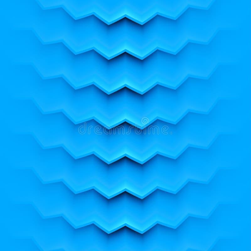 Abstrakter Vektorhintergrund mit blauen Schichten vektor abbildung
