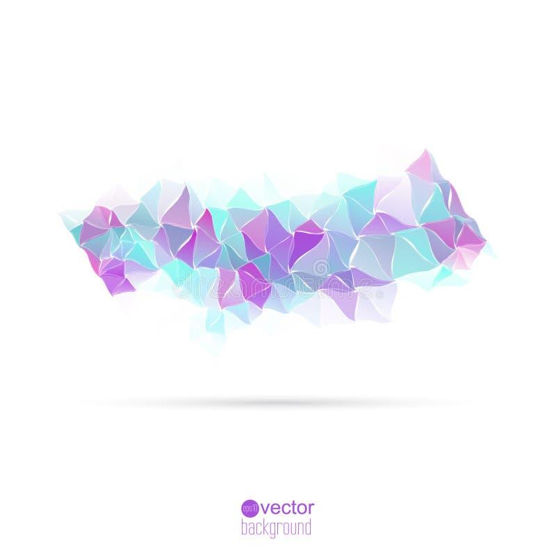 Abstrakter Vektorhintergrund mit Dreiecken und stock abbildung