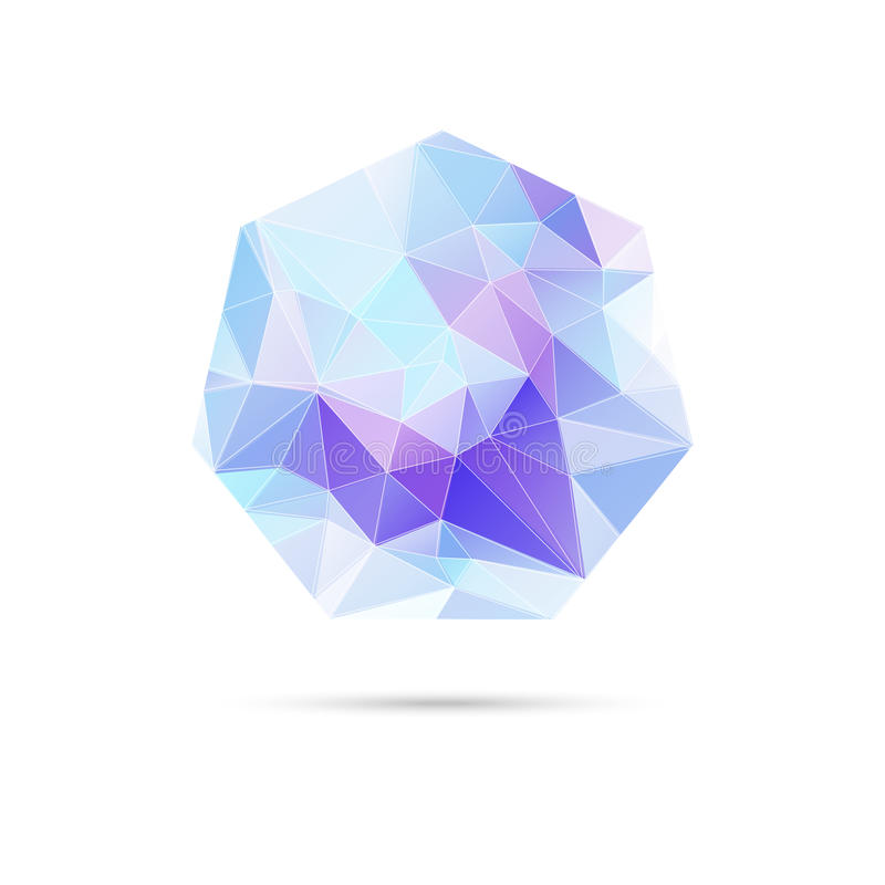Abstrakter Vektorhintergrund mit Dreiecken und lizenzfreie abbildung
