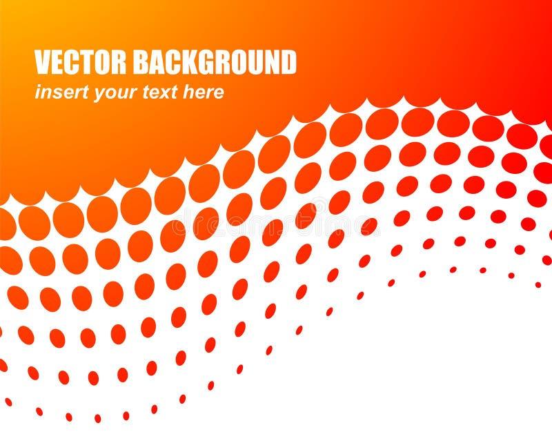 Abstrakter vektorhintergrund mit orange Kreis lizenzfreie abbildung
