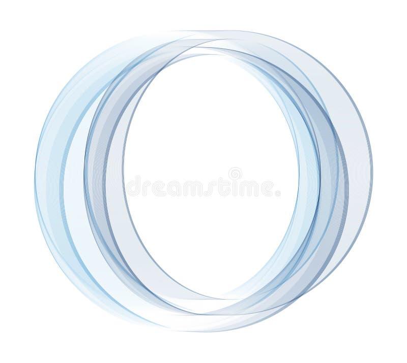 Abstrakter Vektorhintergrund, runder blauer transparenter Ring Gebrauch für Webdesign Kreislinien Blaue Kreise Transparenter Krei stock abbildung