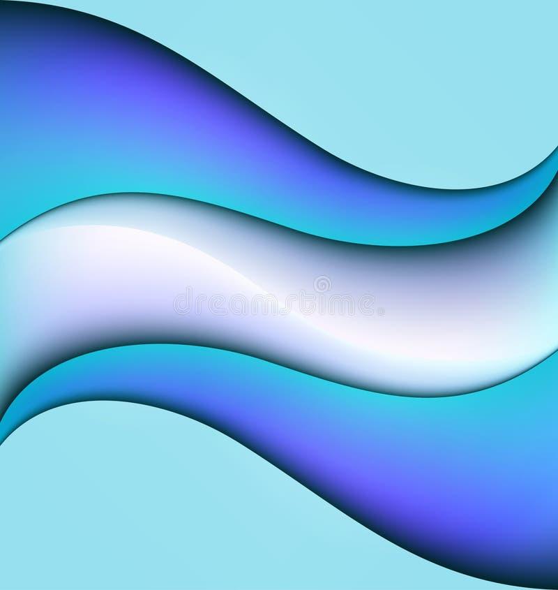 Abstrakter Vektormusterhintergrund der Wasserwellen geometrischer nahtloser sich wiederholender lizenzfreie abbildung