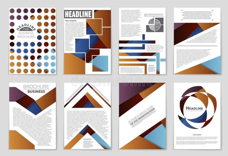 Abstrakter Vektorplan-Hintergrundsatz Für Kunstschablonendesign Liste, Titelseite, Modellbroschüren-Themaart, Fahne, Idee, Abdeck vektor abbildung