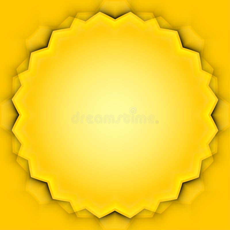 Abstrakter Vektorrahmen mit gelben Blättern vektor abbildung
