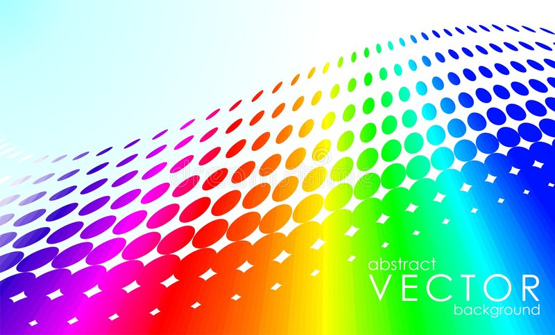 Abstrakter vektorregenbogen lizenzfreie abbildung