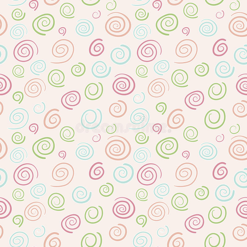 Abstrakter vektorRetro Muster - Farbstrudel lizenzfreie abbildung