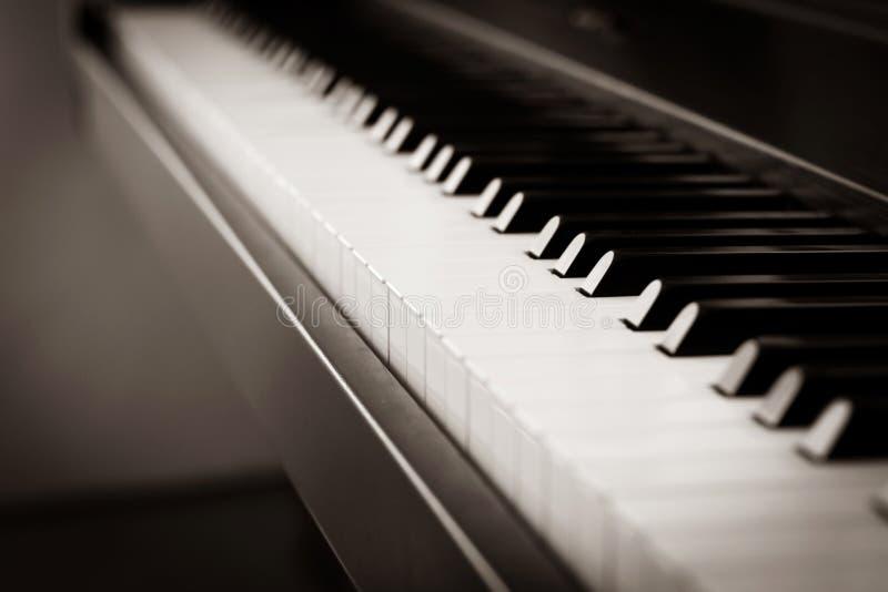 Abstrakter verschwommener Hintergrund Klaviertaste Musikinstrument stockbild
