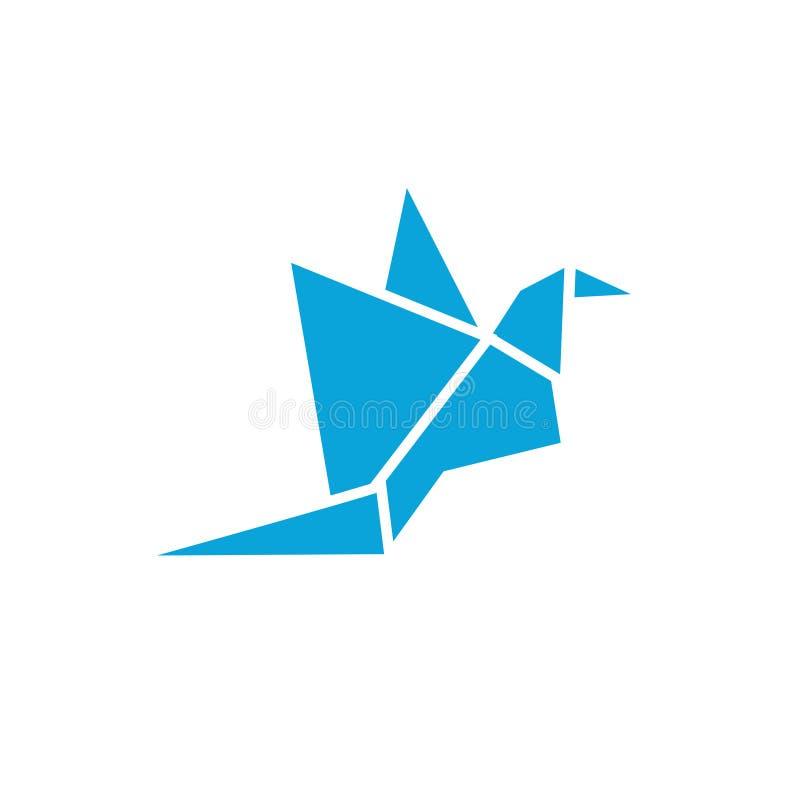 Abstrakter Vogellogoikonendesign-Schablonenvektor stock abbildung